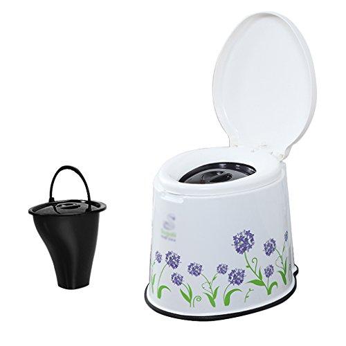 MyAou-commode Portable Camp Toilette Portable Toilette Voyage Camping Randonnée Pique-Nique Festival en Plein Air (Couleur : Violet)