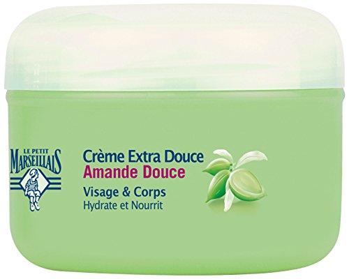Le Petit Marseillais Crème Extra Douce Visage/Corps Amande Douce Pot 200 - Lot de 3