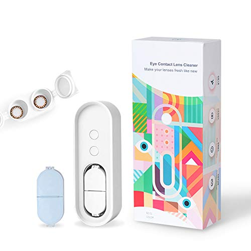 Inmorven Ultraschallreinigungsgerät Tragbarer Reinigungsgerät Automatisch Kontaktlinsen Ultraschallreiniger 114 MHz 60s mit USB Ladegerät Keratin-Entfernung.Habe eine extra Ersatzbox