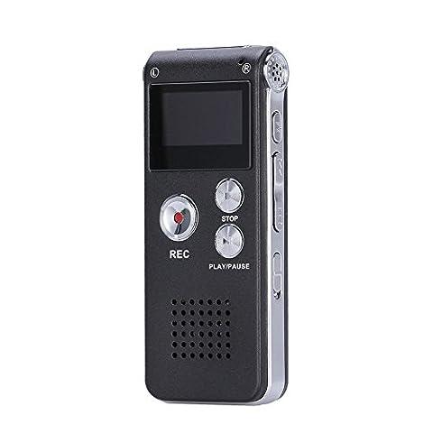 Enregistreur Audio Numerique - GHB 8 Go Dictaphone Numérique Enregistreur Numérique