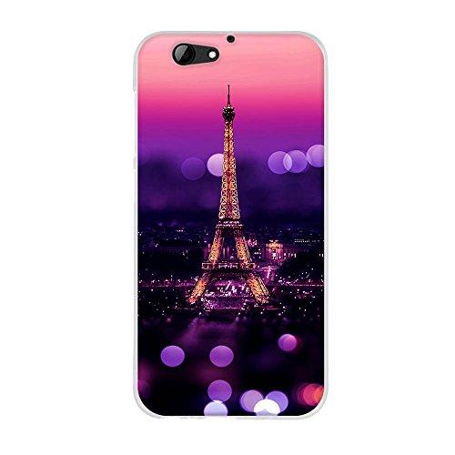 Fubaoda Hülle für HTC One A9s, Schöne Nacht des Eiffelturms,Hochwertige Langlebige Dünn Soft Schutzhülle-Schutz vor Fingerabdruck,Staub & Scratch-Stoßfest TPU Handyhülle für HTC One A9s(5.0