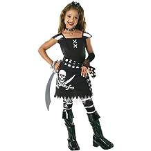 schwarze Piratin Kostüm für Mädchen Gr. S-L