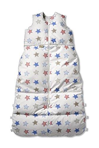 Climarelle Daunenschlafsack, längenverstellbar, Alterskl. ca 12-24 Monate, Patchwork 110 cm
