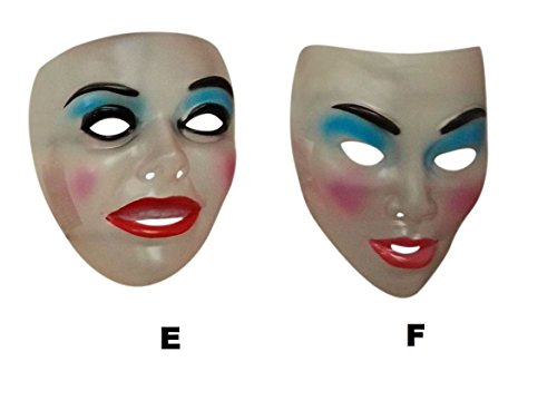 Transparent Mask Female - Smiling, Halloween/The Purge Fancy Dress