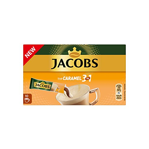 Jacobs Kaffeespezialitäten 3 in 1 Caramel, 120 Sticks mit Instant Kaffee, 12 x 10 Getränke