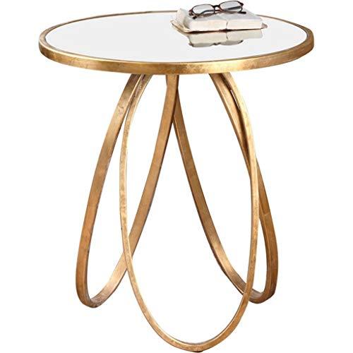 Tavolino da salotto del sofà del balcone del salotto del tavolo da salotto di vetro temperato trasparente di ferro dorato