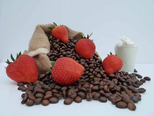 fragola crema aromatizzato (100g, chicchi di (Fragola Caffè Aromatizzato)