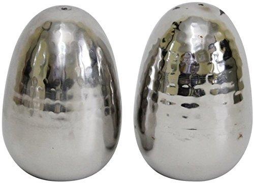 Holister - Salero y pimentero con Forma de Huevo Martillado