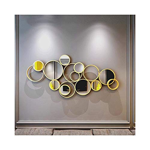 GWFVA Spiegel dekorative Wand große Gold gehämmert Finish Kreise Wand Skulptur Kunst Wandbehang D \u0026 Eacute; cor3 - Kreise-wand-skulptur