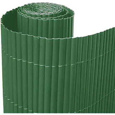 Italfrom - Valla de caña de bambú (PVC, individual, 100 x 300 cm), color verde