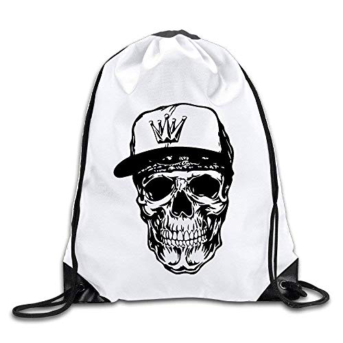 WYICPLO Weared Crown Cap Skull Port Bag Drawstring Backpack - Camouflage Crown Cap