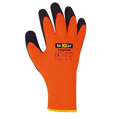 topline-acrilico-del-medio-maglia-guanti-invernali-orange-in-lattice-texxor-2200-taglia-08