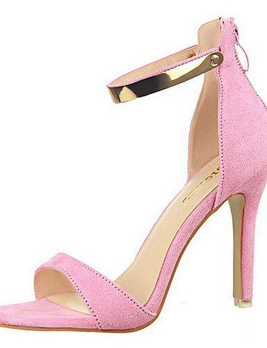 WSS 2016 Chaussures Femme-Décontracté-Noir / Rose / Rouge / Gris / Kaki / Corail-Gros Talon-Talons-Talons-Laine synthétique gray-us5 / eu35 / uk3 / cn34