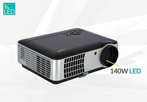 """ivolum LED Heimkino-Beamer HBP-3000 - Full-HD bis 200\"""" Diagonale - 2800 Lumen - HDMI - Videos & Bilder Direkt vom USB-Stick"""