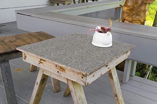 Wallario Aufkleber Selbstklebende Garten-Tisch-Decke - Muster Grauer Marmor Optik -Granit - marmoriert in 50 x 50 cm