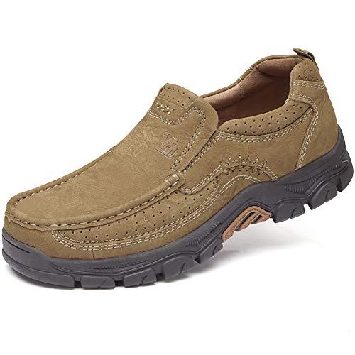 b613d81e69 Camel Crown Chaussures de Ville Homme Mocassins Homme Loafers Slip on  Oxford Chaussures pour Travail Outdoor