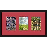 Marco de fotos para 3 fotos (s), 13 x 18 cm, apto para cualquier Marco de fotos, color negro., madera, rosa, 3 - 13x18