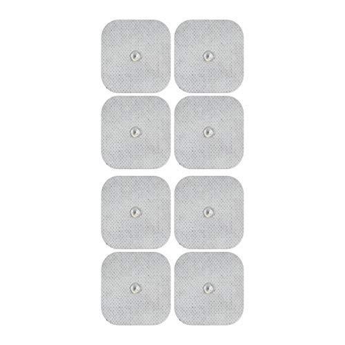 Elektroden-Pads - Für Sanitas & Beurer Geräte - 8 Stück, 45x45mm Selbstklebend - 3,5mm Druckknopf - TENS und EMS