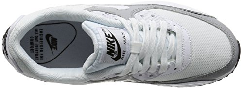 Nike Damen Wmns Air Max 90 Sneakers, Elfenbein (White/White/Wolf Grey/Black), 40 EU - 7