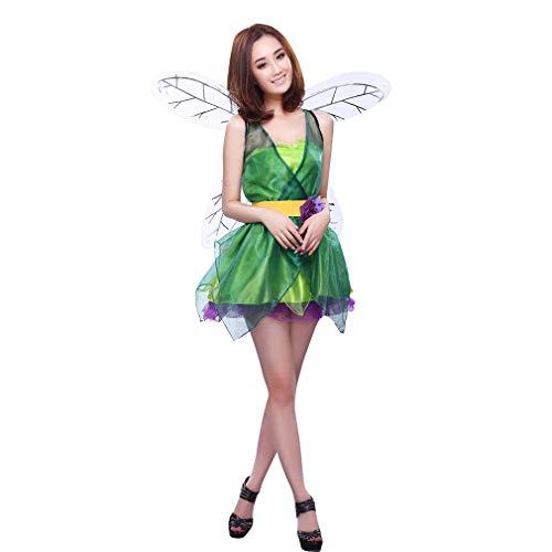 lfe Waldfee Karneval Fasching Fantasy Feenkostüm Märchen mit Flügel ()