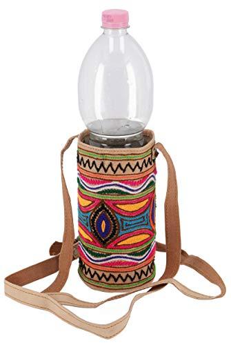 Guru-Shop Flaschentasche, Tasche für Flasche aus Kamelleder, Herren/Damen, Mehrfarbig, Size:One Size, Handtasche, Umhängetasche -
