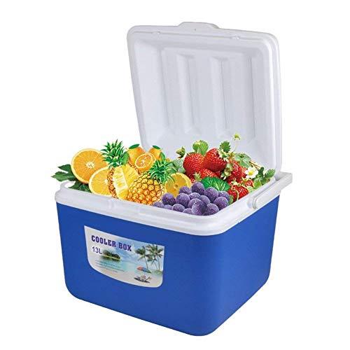 13L Auto Kühler Box Organizer Kälte und Wärme Outdoor EIS Kühler für Picknick Wandern Camping Lebensmittel Aufbewahrungsbox, 32 cm x 27,5 cm x 26 cm (Farbe: Blau)