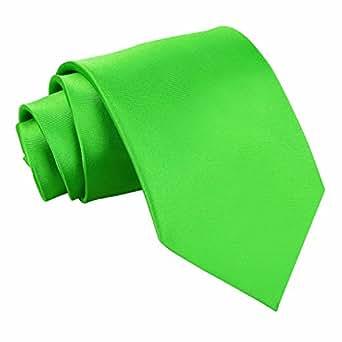 New DQT Plain Apple Green Men's Tie