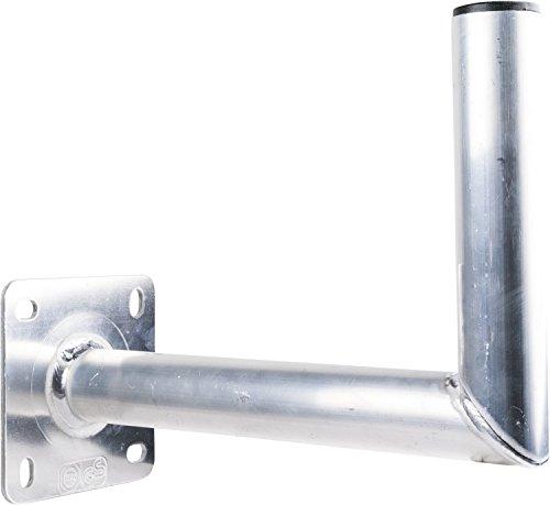 SCHWAIGER -5149- Halterung für Satelliten-Schüssel / SAT-Antenne / Satelliten-Anlage / SAT-Schüssel / Wand-Halter mit Winkel aus Aluminium / Wandabstand 35 cm