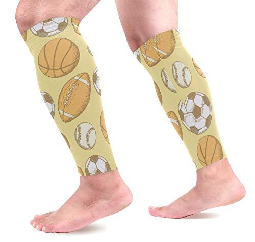 Wfispiy Fußball American Football Baseball Waden Kompression Ärmel Schienbeinschoner Beinschutz Wadenschmerzlinderung für Runni