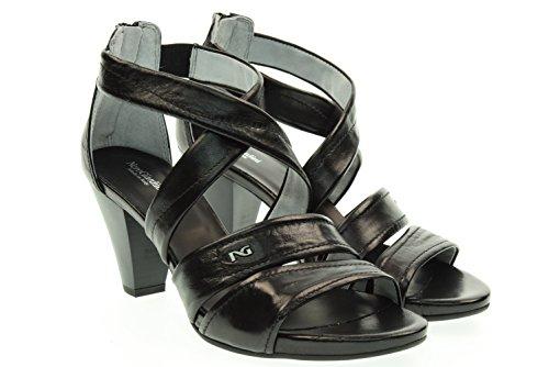 NOIR JARDINS femme sandale talon moyen P615551D / 100 Black Nero
