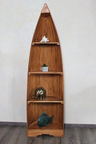 Exotisches Holz Bootsregal Regal Boot hellbraun 195cm