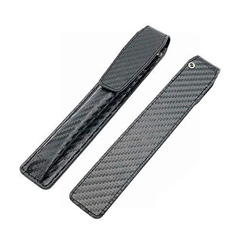 Ogquaton Electronic Cigarette Schutzledertasche Carbonfaser Grain Ledertasche Schwarz 1PCS