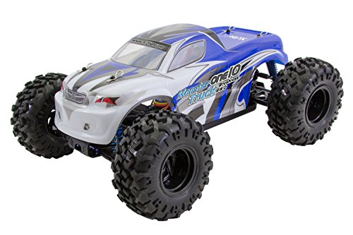 XciteRC 30331000 - Voiture RC one10 Monster Truck 4 WD Brushless, Bleu