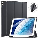 ZtotopCase Hülle für iPad Air 10,5 (3. Generation 2019) und iPad Pro 10,5 2017,Ultradünne Soft TPU Rückseite Abdeckung mit eingebautem iPad Stifthalter, Automatischem Schlaf/Aufwach,Dunkel Grau