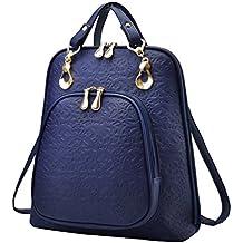 YAANCUN Mujeres Pu Cuero Backpack Mochilas Escolares Mochila Escolar Casual Bolsa Viaje Moda Cremallera