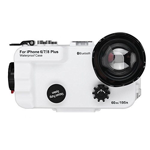 VBESTLIFE schützende Telefon Fall, 195ft Telefon Tauchen Fall mit optischen Objektiv Weitwinkel,Unterwasser Telefon Fall für iPhone 6/7/8 Plus