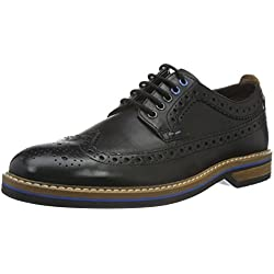 Clarks Pitney Limit, Zapatos de Cordones Oxford para Hombre, Negro (Black Leather)