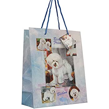 Bichon Frise Breed of Dog Quality Large Gift Bag /& Gift Tag Present Occasion