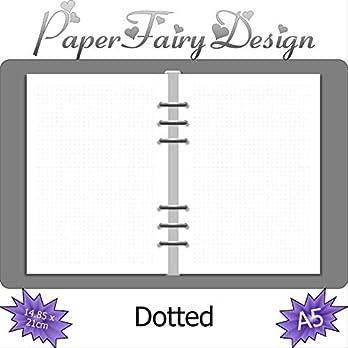 Kalendereinlagen – DIN A5 (14.85cm x 21cm) – Dotted – 120g Premium Papier