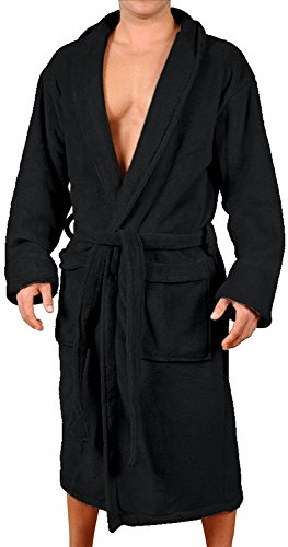 Big Lebowski Dude Kostüm - Wanted Herren-Kimono-Bademantel aus weichem Fleece mit