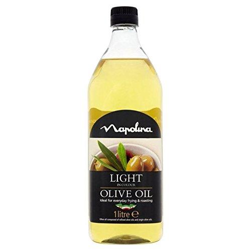 Lumière Napolina Couleur Olive 1L D'Huile - Paquet de 6