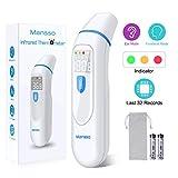 Bébé Thermomètre, Mansso thermomètre auriculaire Digital 32, derniers résultats des tests, indicateur de température et de fièvre, Thermomètre frontal amélioré pour bébé, nourrisson et enfants adultes