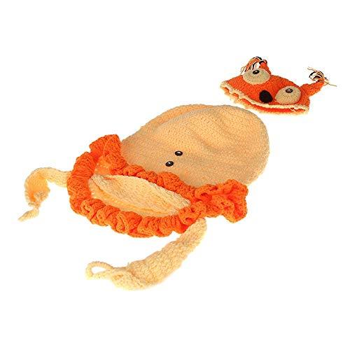 LinHut Baby-Bekleidungszubehör Neugeborenes Baby Boy Crochet Knit Kostüm Fotografie Prop Hüte Und Outfits Cocoon Set Party Kostüm Foto Requisiten für Baby Dress up