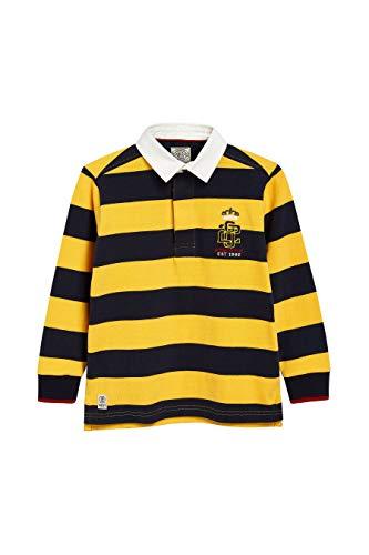 next Jungen Gestreiftes Rugby-Shirt Gelb/Marine 12 Jahre