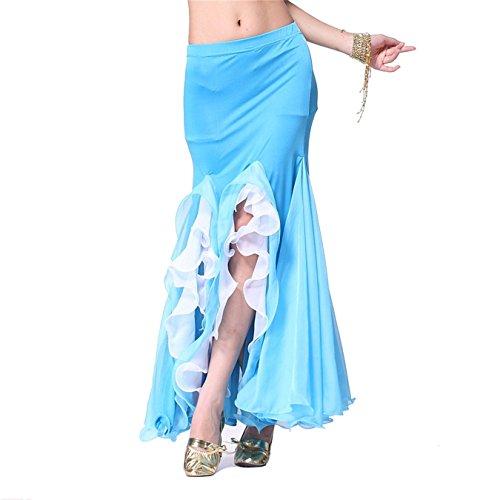 Damen Tanzkleidung Bauchtanz Rock Tribal Lotus Edge Tanzen Kost¨¹me Maxi Rock Mermaid (Kostüme Wettbewerbs Tanz Online)