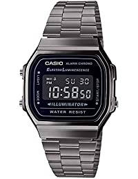 Casio Reloj Digital para Hombre de Cuarzo japonés con Correa en Acero Inoxidable A168WEGG-1BEF