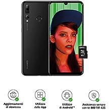 """Huawei Psmart+ 2019 (Nero) più Microsdhc 16GB Class 10, Telefono con 64 GB, Display 6.21"""" Full HD+, Tripla fotocamera posteriore 24+16+2 Mpx, Processore Octa Core dinamico con IA [Versione Italiana]"""