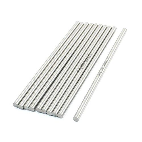 Lot de 10 3.7 mm x 100 mm HSS Acier Haute Vitesse Barres tournantes pour tour CNC