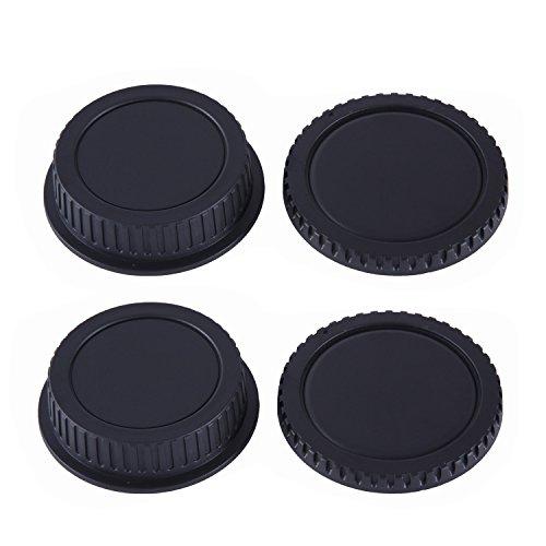 Tapa para Montura de Objetivo & Tapa para Cuerpo de Movo Photo para Cámaras DSLR Canon EOS