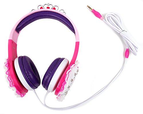 DURAGADGET Prinzessinen-Kopfhörer für Kinder in Pink und Lila - Ideal für Vtech KidiCom Max (80-169504 | 80-169554) Kinder-Messenger